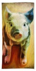 Pig Is Beautiful Beach Towel by Barbara Orenya