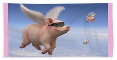 Pigs Fly Beach Towel