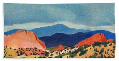 Garden Of The Gods Pikes Peak Beach Towel