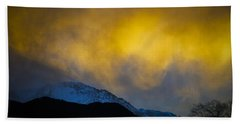 Pike's Peak Snow At Sunset Beach Towel