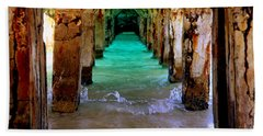 Pillars Of Time Beach Towel by Karen Wiles