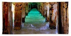 Pillars Of Time Beach Sheet by Karen Wiles