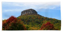 Pilot Mountain From 52 Beach Towel by Kathryn Meyer