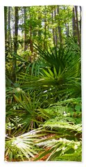 Pine And Palmetto Woods Filtered Beach Towel