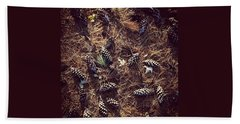 Pine Cones And Patterns Beach Towel