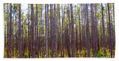 Pine Trees Beach Towel