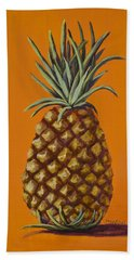 Pineapple On Orange Beach Towel