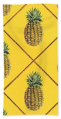 Pineapple Squared Textile Pattern Beach Towel