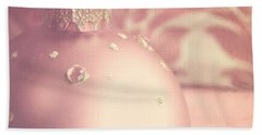 Pink And Gold Ornate Christmas Bauble Beach Sheet