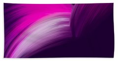 Pink And Purple Curves Beach Towel