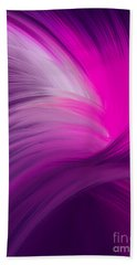 Pink And Purple Swirls Beach Towel