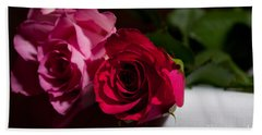 Beach Towel featuring the photograph Pink And Red Rose by Matt Malloy