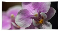Pink And White Orchid Beach Sheet