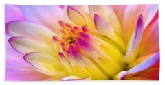 Pink And White Water Lily Beach Towel