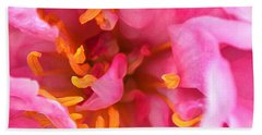 Pink Beauty Beach Towel by Tine Nordbred