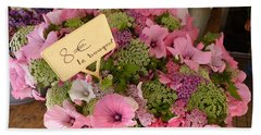 Beach Towel featuring the photograph Pink Bouquet by Carla Parris