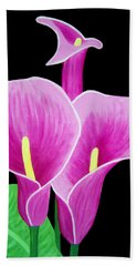 Pink Calla Lillies 2 Beach Sheet