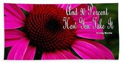 Pink Coneflower Beach Sheet