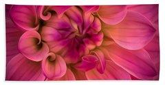 Pink Dahlia Beach Sheet