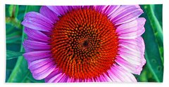 Pink Daisy By Jan Marvin Beach Sheet