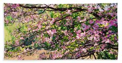 Pink Dogwood I Beach Towel