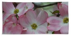 Pink Dogwood Tree Beach Sheet