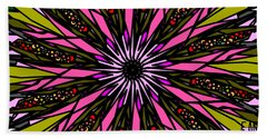 Beach Towel featuring the digital art Pink Explosion by Elizabeth McTaggart