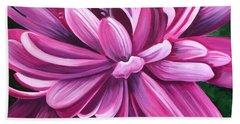 Pink Flower Fluff Beach Sheet