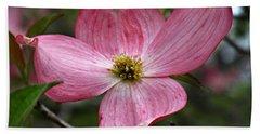 Pink Flowering Dogwood Beach Sheet