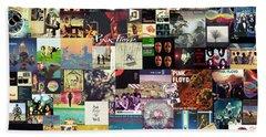 Pink Floyd Collage I Beach Sheet