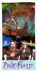 Pink Floyd Collage Beach Towel