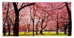 Pink Forest Beach Towel by Patti Whitten