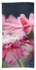 Pink Gerber Daisy - Awakening Beach Sheet by Ivy Ho