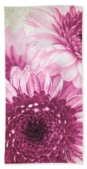 Pink Gerbera Beach Towel