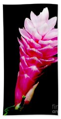 Pink Ginger Lilly Beach Towel