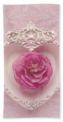 Pink Heart - Pink Camellia Beach Sheet