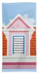 Pink House Beach Towel