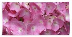 Pink Hydrangea Beach Sheet