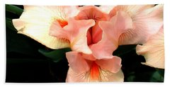 Beach Sheet featuring the photograph Pink Iris by The Art of Alice Terrill