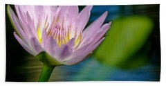 Purple Petals Lotus Flower Impressionism Beach Towel