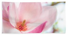 Pink Magnolia Beach Towel by Denise Bird
