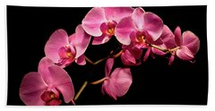 Pink Orchids 3 Beach Sheet
