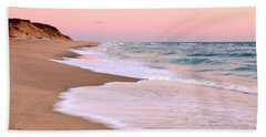 Pink Pastel Beach And Sky Beach Sheet