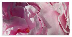 Pink Peonies Beach Sheet