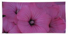 Pink Petunia Beach Towel