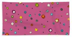 Pink Pop Flower Spot Beach Towel