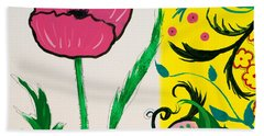 Pink Poppy And Designs Beach Sheet