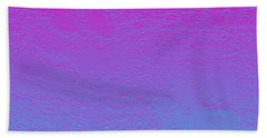 Pink Purple Blue Beach Towel