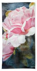 Pink Rose Caroline Beach Towel