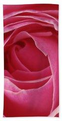 Beach Sheet featuring the photograph Pink Rose Dof by Arthur Fix